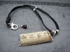 Recycled Wine Cork Sterling Silver and Leather Cord by lfailoni