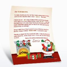 Free Printable - From Santa - By the Fireplace