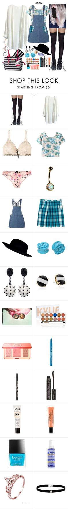 """""""24-year-old jersey"""" by kinathegreat ❤ liked on Polyvore featuring Leg Avenue, Elle Macpherson Intimates, WithChic, Myla, Forever 21, Gap, River Island, Hot Topic, Oscar de la Renta and Kate Spade"""