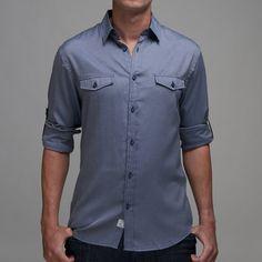 Jefferson Chambray Shirt Blue  by Pocket Change