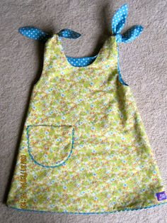 Use a simple pattern for a dress and just extend the shoulders to make ties