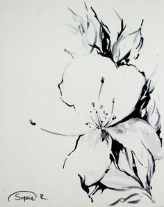 gardenias drawing tattoo - Google Search