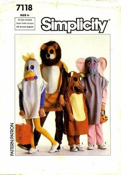 Simplicity 7118 Sewing Pattern Childrens Animal Costumes Size 2 - 12 by Simplicity, http://www.amazon.com/dp/B003MOZZ06/ref=cm_sw_r_pi_dp_Lqrmsb05H1NTQ