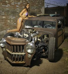 A rat rod is a style of hot rod or custom car that, in most cases, imitates the early hot rods of the 1940s, 1950s & early 1960s.<p></p>