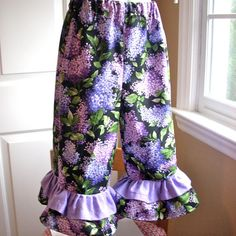 baby clothes girls pants ruffled pants chldrens by BackPorchKids, $24.00