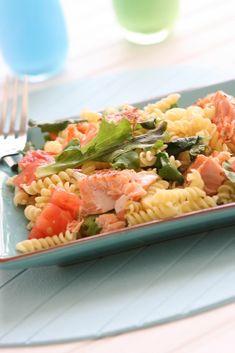 Healthy Main Dish: Salmon-Kale Pasta from @alisonlewis