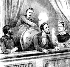 April 14, 1865  U.S. President Abraham Lincoln is assassinated in Ford's Theatre by John Wilkes Booth.