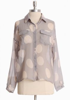 big dots blouse
