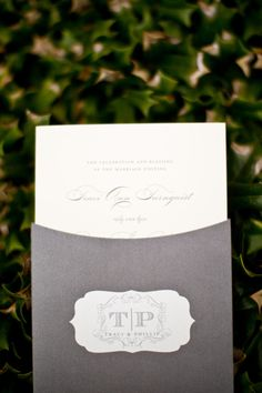 Classic invitations complete with a FAB-U-LOUS monogram by http://www.frontierpapercompany.com/index2.php  Photography by http://jessbarfield.com