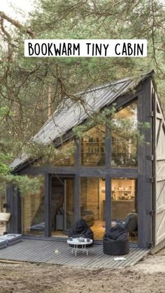 Tiny Cabins, Tiny House Cabin, Cabins And Cottages, Tiny House Living, Small House Plans, Cabin Homes, Small Barn Home, Tiny Homes, Permaculture Design