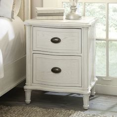 refinish bedside table to look like this (white stain, chalk paint, or paint)