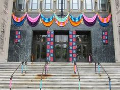 Jessie Hemmons, a Philadelphia fiber artist known as the Philadelphia Yarn bomber, yarnbombed the facade of the museum's Perelman building using two of Lion Brand Yarn Company's most popular yarns in bright colors, Hometown USA and Vanna's Choice. The exhibit runs from May 5 – August 12, 2012.