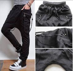2014 tapered sport sweat pants unique mens clothing slim straight cargo pants parkour weatpants harem pants for men