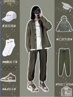 Korean Girl Fashion, Ulzzang Fashion, Korean Street Fashion, Kpop Fashion Outfits, Tomboy Fashion, Cute Fashion, Streetwear Fashion, Korean Casual Outfits, Korean Outfit Street Styles