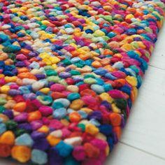 Tapis en laine multicolore 140 x 200 ...