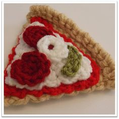 Crocheted Pizza Slices Pattern ... Instant by ThoughtsKnotsStitch