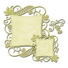 Spellbinders Nestabilities Decorative Elements Dies  Curved Square