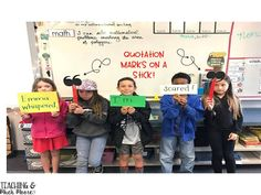 Teaching and Much Moore - quotation mark activity - hands on