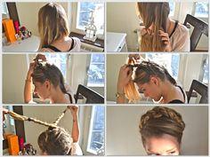 Gretel Braid (German braid) a hairytale.
