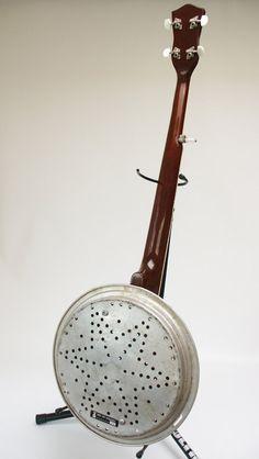 Aluminum Dobro 5-String Bluegrass Banjo Banjourine. $420.00, via Etsy.