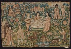 Embroidery: The Prodigal Son; English 17C