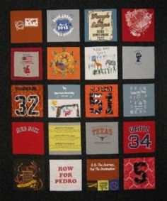 "T-shirt quilt...14"" squares by delia"