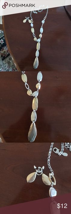NWOT Chico's necklace and earring set Cute silver / gold set! Chico's Jewelry Necklaces
