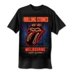 Rolling Stones 14 On Fire Australian Tour | Rolling Stones Melbourne Neon Sign T-Shirt | Shop the Rolling Stones Official Store