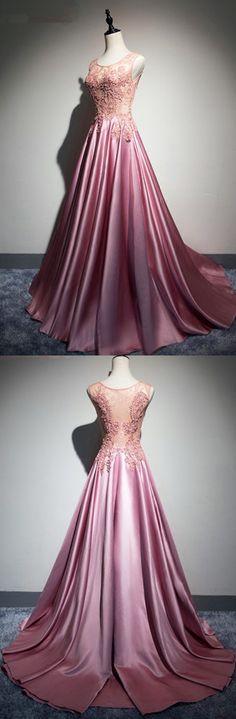 Appliques Satin Prom dresses,sexy prom dress,Evening Dress,Charming prom dress, long prom dress,prom dresses, elegant prom dress, prom dress