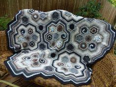 inspiration:  hexagon blanket