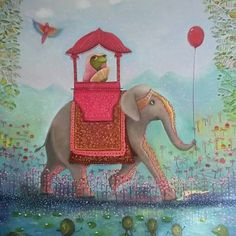 Marching elephant