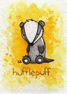 I'm Gryffindor, but this is so cute! Hufflepuff by tee-kyrin.deviantart.com on @DeviantArt