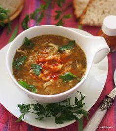 Na rozgrzanie. Flaki po warszawsku   Smaczna Pyza Salmon, Food And Drink, Menu, Ethnic Recipes, Menu Board Design, Atlantic Salmon, Trout
