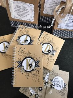 DIY Notebooks, Welcome Gifts for my Stampin' Up!  team
