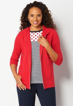 <span>Relaxed Restyled Sport Zip-Up Jacket</span>