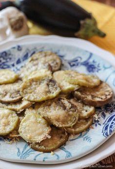 Baked Eggplant Parmesan Chips