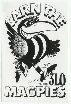 Weg sticker- Collingwood Magpies Football Club Australian Football, Australian Birds, Collingwood Football Club, Best Club, Magpie, Art Logo, Rock Art, Machine Embroidery Designs, Art Sketches