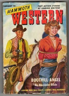 Mammoth western Pulp magazine. Title: boothill angel