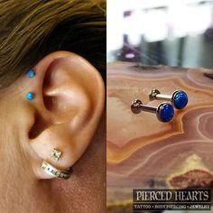 Double forward helix   Pierced Hearts Tattoo Parlor Seattle