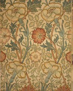 William Morris - Pink and Rose wallpaper design, ca. 1890