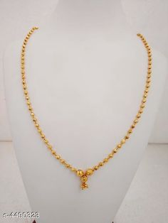Necklaces & Chains Women's Brass Gold Plated Necklaces & Chains Base Metal: Brass Plating: Gold Plated Stone Type: Artificial Beads Sizing: Adjustable Type: Chain Multipack: 1 Sizes: Country of Origin: India Sizes Available: Free Size   Catalog Rating: ★4.1 (1196)  Catalog Name: Women's Brass Gold Plated Necklaces & Chains CatalogID_648491 C77-SC1092 Code: 702-4490323-234