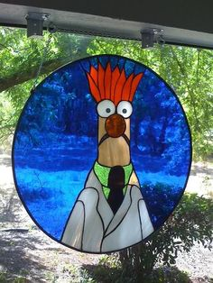 Muppets | Beaker stained glass