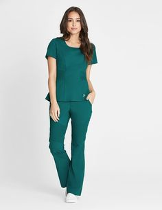 The Pintuck Collection is now available in Hunter Green. #scrubs