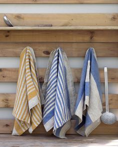 Striped Linen Kitchen Tea Towels  Set of 4 by LINDRAKI on Etsy