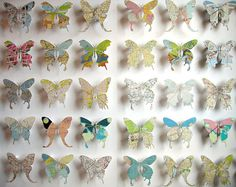 Butterflies made from vintage maps