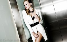 hotel high fashion editorials | I like this outfit idea in cream and neautral colors