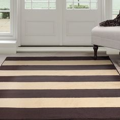 "Windsor Home Autumn Stripes Area Rug - Brown & Tan 3'3"" x 5' - Overstock Shopping - Great Deals on Windsor Home 3x5 - 4x6 Rugs"