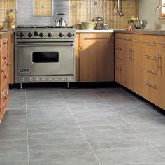 Daltile Trend Hub: The latest tile trends, designs, news & Grey Kitchen Floor, Grey Floor Tiles, Kitchen Tiles, Kitchen Colors, Kitchen Flooring, Tile Flooring, Gray Floor, Kitchen Black, Slate Kitchen