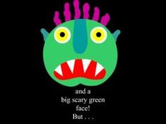 #Cuento en inglés para #Halloween, Ayuda aprender los rasgos de la cara.Go away, big green #monster! de Ed Emberly