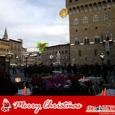 #Happy #Holidays from Italy Pin it to wish Merry #Christmas to your followers! Signoria Square, #Florence, Italy